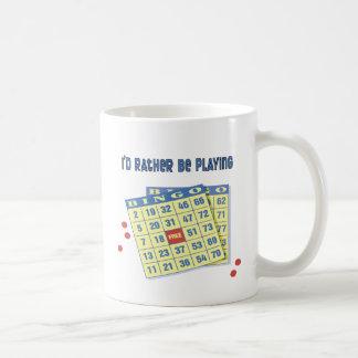 Bingo: I'd Rather Be Playing Classic White Coffee Mug
