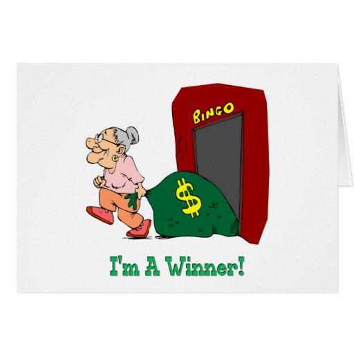 Bingo Im A Winner Cards Zazzle
