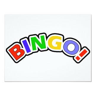 """Bingo Invitación 4.25"""" X 5.5"""""""