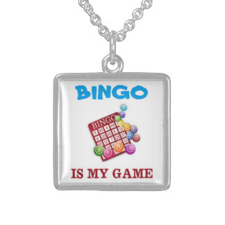 BINGO IS MY GAME STERLING SILVER NECKLACE