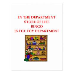 BINGO joke Postcard
