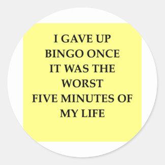BINGO.jpg Round Stickers