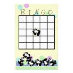 Bingo juguetón de la panda papelería personalizada