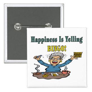 Bingo: La felicidad es Pin Cuadrada 5 Cm