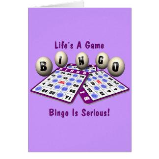 Bingo La vida es un juego Felicitación