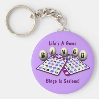 Bingo: La vida es un juego Llavero Redondo Tipo Pin