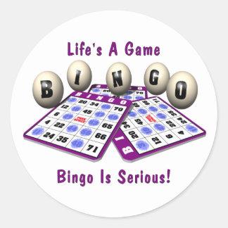 Bingo: La vida es un juego Pegatina Redonda
