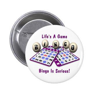 Bingo: La vida es un juego Pin Redondo De 2 Pulgadas