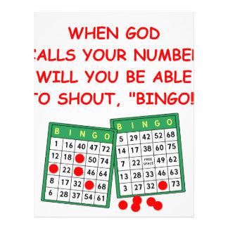 bingo letterhead
