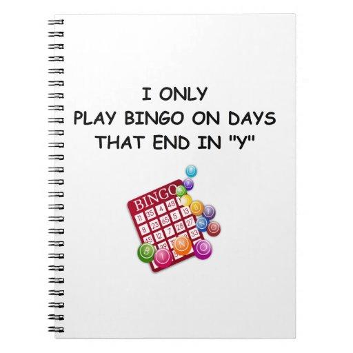 bingo libros de apuntes