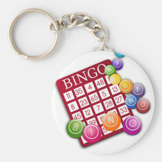 Bingo Llavero Redondo Tipo Pin