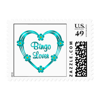 Bingo Lover Postage Stamp