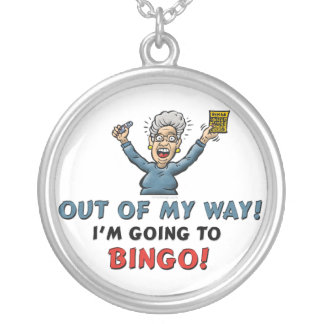 Bingo Lovers Silver Plated Necklace