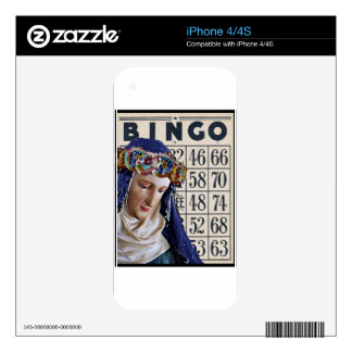 BINGO Madonna altered art original Skin For The iPhone 4