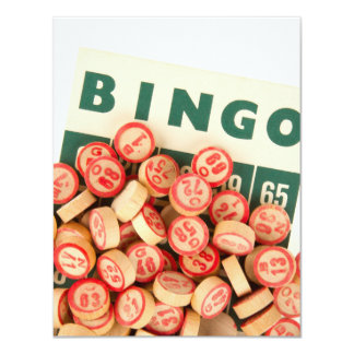 """Bingo Markers and Score Card 4.25"""" X 5.5"""" Invitation Card"""