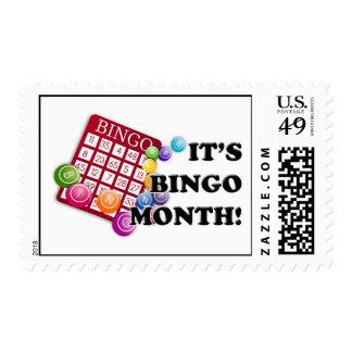 Bingo Month Postage Stamp