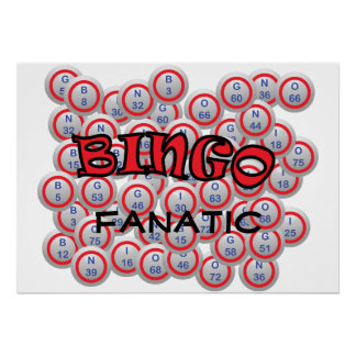 "Bingo ""Name"" over Bingo Balls Poster"