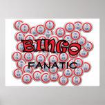 """Bingo """"Name"""" over Bingo Balls Posters"""