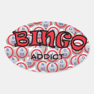 "Bingo ""Name"" over Bingo Balls Oval Sticker"
