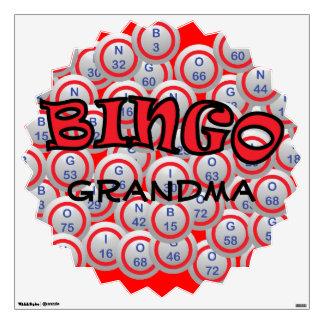 """Bingo """"Name"""" over Bingo Balls Wall Graphic"""