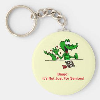 Bingo - no está apenas para los mayores llavero redondo tipo pin