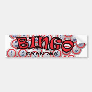 """Bingo """"nombre"""" sobre bolas del bingo pegatina para auto"""