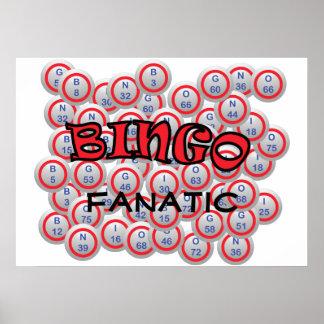 """Bingo """"nombre"""" sobre bolas del bingo póster"""