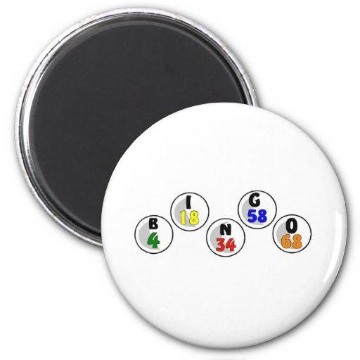 Bingo Numbers 2 Inch Round Magnet
