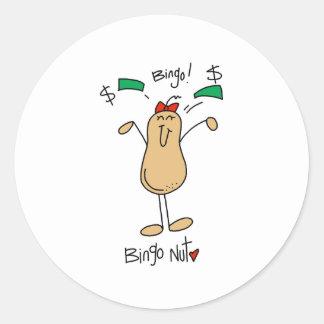 Bingo Nut Round Sticker