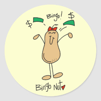 Bingo Nut Tshirts and Gifts Sticker