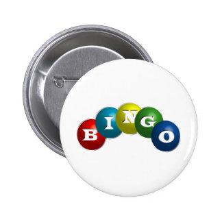 Bingo o loteria - opción para personalizar su engr pin redondo de 2 pulgadas