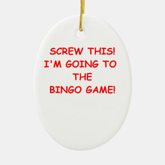 bingo ornaments