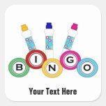 Bingo (personalizable) pegatina cuadrada