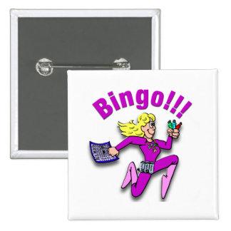 ¡Bingo!!! Pin Cuadrado