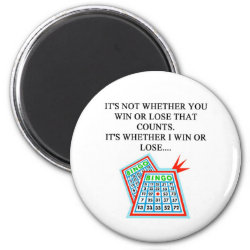 bingo player gifts 2 inch round magnet