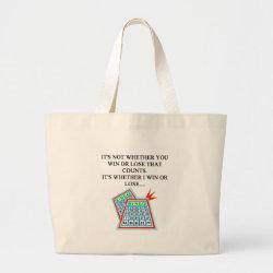 bingo player gifts large tote bag