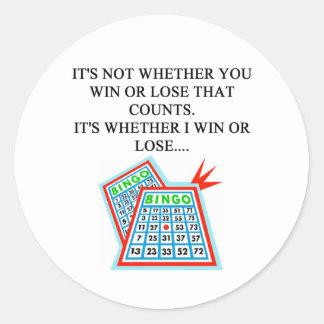 bingo player gifts round sticker