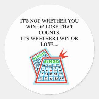 bingo player gifts round stickers