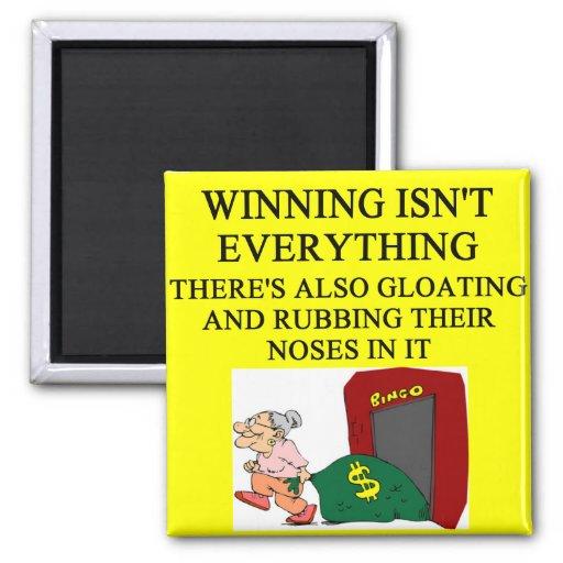 bingo player joke 2 inch square magnet