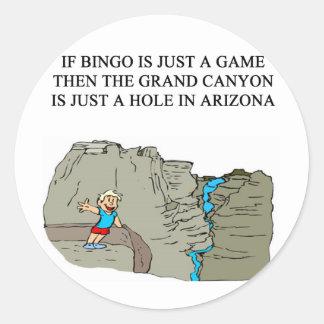 BINGO player Round Sticker
