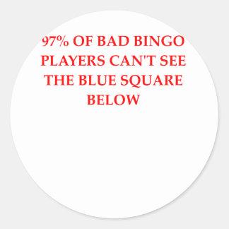 BINGO.png Round Stickers
