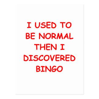 bingo post cards