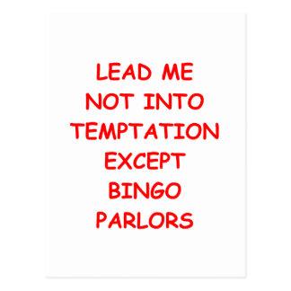 bingo postcard