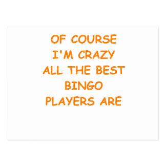 bingo postcards