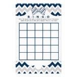 Bingo purse baby shower games, navy gray bow tie flyer