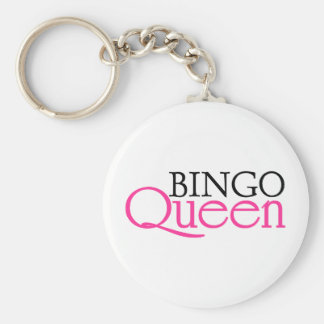 Bingo Queen Basic Round Button Keychain