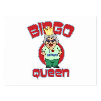 Bingo Queen - Customize Post Cards