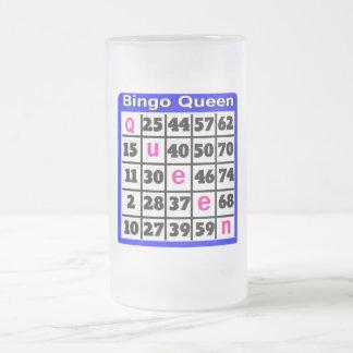 Bingo Queen Frosted Glass Beer Mug