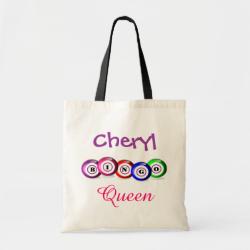Bingo Queen Fun Bingo Balls Design Tote Bags