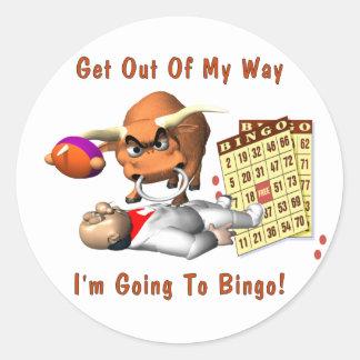 Bingo: Salga de mi manera Pegatina Redonda